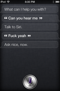Siri on iPod Touch