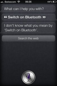 Switch on Bluetooth